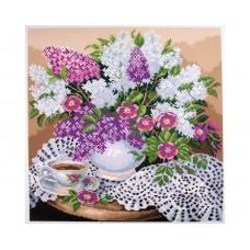 """Канва с рисунком Collection D'Art Аида PA1276 """"Lilacs in vase"""""""