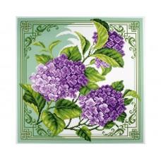 """Канва с рисунком Collection D'Art Аида PA1348 """"Hydrangea"""""""