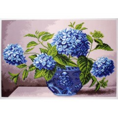 """Канва с рисунком Collection D'Art Аида PA1405 """"Hydrangea in vase"""""""