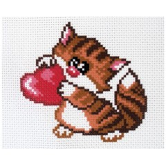 "Канва с рисунком Collection D'Art Аида PA1485 ""Meow"""