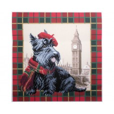 "Канва с рисунком Collection D'Art Аида PA1692 ""Scottish terrier in London"""