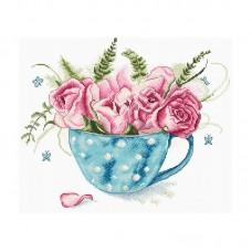 Набор для вышивки LETISTITCH Leti 916  Чашка розы