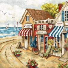 Набор для вышивки LETISTITCH Leti 905  Магазины у моря