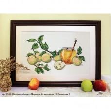 Набор для вышивания крестом Мережка К-02 Медовые яблоки