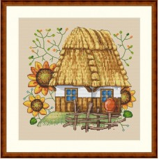 Набор для вышивания крестом Мережка К-10  Каждой молодушке - дом, сундук и кошечку (часть 2)