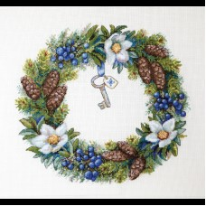 Набор для вышивания крестом Мережка К-104 Венок Зимний