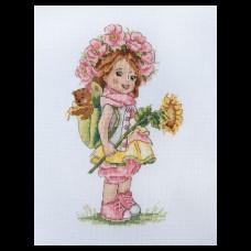 Набор для вышивания крестом Мережка K-110 Летняя девочка