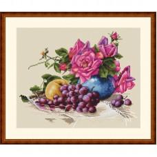 Набор для вышивания крестом Мережка K-20 Натюрморт с виноградом