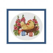 Набор для вышивания крестом Мережка K-65 Счастливой Пасхи!