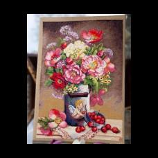 Набор для вышивания крестом Мережка К-91 Цветы купидона