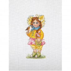 Набор для вышивания крестом Мережка K-98 Весенняя девочка