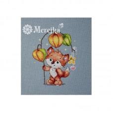 Набор для вышивания крестом Мережка M-003 Лисенок с физалисом