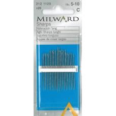 Иглы Milward 2121120 для ручного шитья острые №5-10 20 шт.