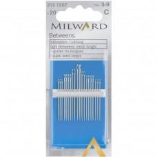Иглы Milward 2121207 для ручного шитья средние №3-9 20 шт.