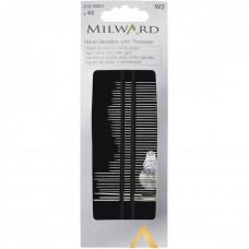 Набор игл Milward 2129003 для шитья и вышивки с нитковдевателем 45 шт.