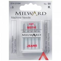 Иглы Milward 2142104 для швейных машин для джинса №90