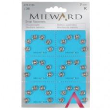 Пришивные кнопки Milward 2195105 7 мм 36 шт.