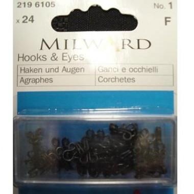 Крючки и петельки Milward 2196105 №1 24 шт.