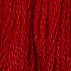 Мулине DMC 666 Хлопок Christmas Red - bright (Рождественский красный, яркий)