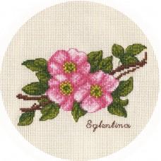 Набор для вышивания Panna Ц-1811 Веточка шиповника