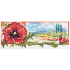 Набор для вышивки крестом Panna Ц-7038 Красный цвет утренней зари