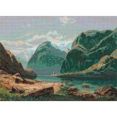 Набор для вышивания Panna ГТГ-7097 Озеро в горах Швейцарии