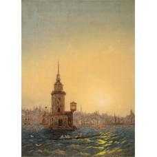 Набор для вышивки крестом Panna ГТГ-7099 Вид Леандровой башни в Константинополе