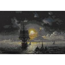 Набор для вышивки крестом Panna ГТГ-7119 Лунная ночь на Капри