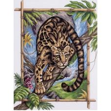"""Набор для вышивания  Panna Ж-1711 """"Дымчатый леопард"""""""