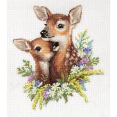 Набор для вышивки крестом Panna Ж-7127 Оленята