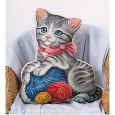 """Набор для вышивания Panna ПД-1884 """"Подушка Мой котенок"""""""