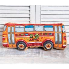 Набор для вышивки крестом Panna ПД-1947 Подушка Автобус