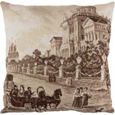 Набор для вышивки крестом Panna ПД-1969 Подушка Старая Москва. Дом Пашкова
