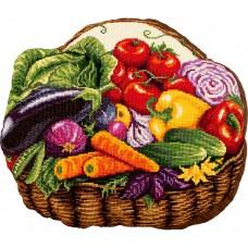 Набор для вышивки крестом Panna ПД-7012 Овощная корзина