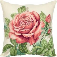 Набор для вышивки крестом Panna ПД-7116 Подушки Винтажная роза