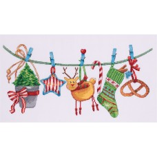 Набор для вышивки крестом Panna ПР-7093 Новогодняя гирлянда