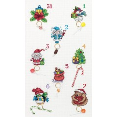 Набор для вышивания Panna ПР-7102 Новогодний календарь
