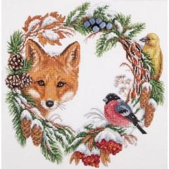 Набор для вышивания Panna ПС-1775 Зимний венок
