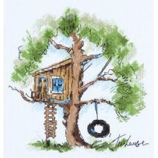 Набор для вышивки крестом Panna ПС-1952 Домик на дереве