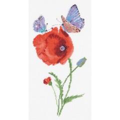 Набор для вышивки крестом Panna ПС-7033 Мгновения лета. Бабочки