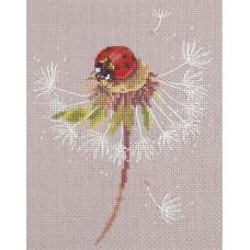 Набор для вышивки крестом Panna ПС-7034 Мгновения лета. Божья коровка
