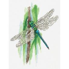 Набор для вышивки крестом Panna ПС-7091 Мгновения лета. Стрекоза