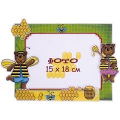 """Набор для вышивания Panna РМ-1690 """"Рамка для фотографии. Мишки"""""""