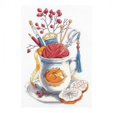 Набор для вышивания Panna РТ-7039 Чашка рукодельницы