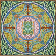 Набор для вышивки крестом Panna СО-1856 Мандала. Здоровье