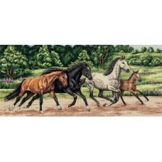 Набор для вышивания Panna Ж-7073 Дикие лошади