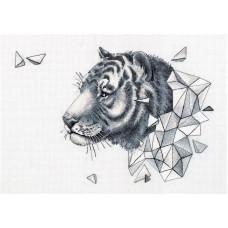 Набор для вышивания Panna Ж-7089 Геометрия. Тигр