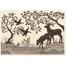 Набор для вышивания Panna Ж-1295 Олени у реки