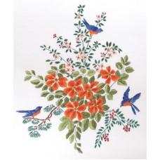 Набор для вышивания Panna Ц-1308 Цветы и птицы