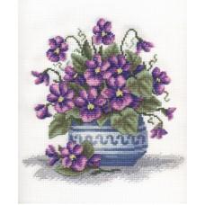 Набор для вышивания Panna Ц-1343 Букет фиалок